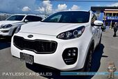 2018 Kia Sportage EX Premium / AWD / Sport Appearance Pkg / Power & Heated Leather Seats / Apple CarPlay & Android Auto / Back Up Camera / Blind Spot Assist / Auto Start / Block Heater / Tow Pkg / 25 MPG / 1-Owner