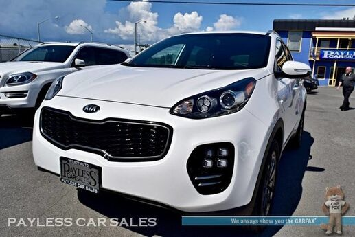 2018 Kia Sportage EX Premium / AWD / Sport Appearance Pkg / Power & Heated Leather Seats / Apple CarPlay & Android Auto / Back Up Camera / Blind Spot Assist / Auto Start / Block Heater / Tow Pkg / 25 MPG / 1-Owner Anchorage AK