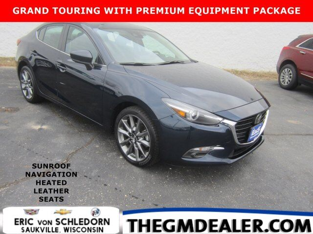 2018 Mazda Mazda3 4-Door Grand Touring PremiumEquipmentPkg w/Sunroof Navigation HtdLthr RearCamera Milwaukee WI
