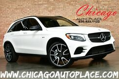 2018_Mercedes-Benz_GLC_AMG GLC 43 4MATIC - 3.0L BI-TURBO ENHANCED V6 ENGINE NAVIGATION TOP VIEW CAMERAS PANORAMIC ROOF BLACK LEATHER W/ RED STITCHING BURMESTER AUDIO_ Bensenville IL