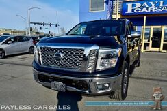 2018_Nissan_Titan_SL / 4X4 / 5.6L V8 / Crew Cab / Power & Heated Leather Seats / Navigation / Rocksford Fosgate Speakers / Auto Start / Blind Spot Alert / Bluetooth / Back Up Camera / Rear Park Assist / Bed Liner / Tow Pkg / 1-Owner_ Anchorage AK