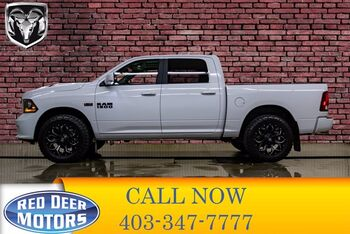 2018_Ram_1500_4x4 Crew Cab Sport Leather Roof Nav_ Red Deer AB