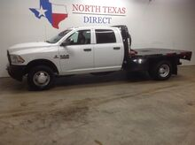 2018_Ram_3500 Chassis Cab_FREE DELIVERY Diesel Dually Aisin Crew Flat Bed Bluetooth_ Mansfield TX