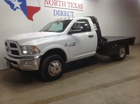 2018 Ram 3500 Chassis Cab SLT 4x4 Diesel Dually Skirted Flatbed Single Cab Aisin Touch Screen Mansfield TX