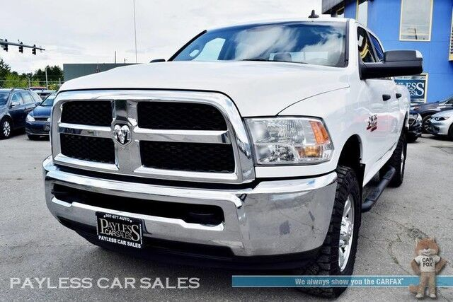 2018 Ram 3500 SLT / 4X4 / Crew Cab / 6.7L Cummins Turbo Diesel / Automatic / Apple CarPlay & Android Auto / Bluetooth / Parking Aid / Auto Climate / Seats 6 / Running Boards / Block Heater / Tow Pkg / 1-Owner Anchorage AK