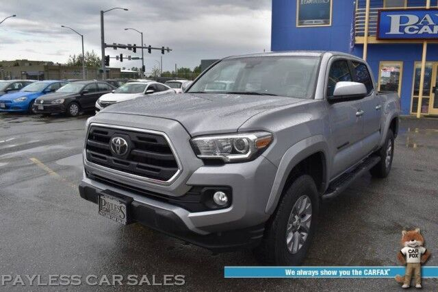 2018 Toyota Tacoma SR5 / 4X4 / Double Cab / Automatic / Bluetooth / Back Up Camera / Lane Departure & Collision Alert / Cruise Control / Bed Liner / Running Boards / Alloy Wheels / Tow Pkg Anchorage AK