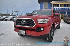 2018_Toyota_Tacoma_TRD Sport / 4X4 / Automatic / Double Cab / Navigation / Bluetooth / Back Up Camera / Blind Spot & Lane Departure Alert / Collision Alert / Bed Liner / Running Boards / Tow Pkg / Only 3k Miles / 1-Owner_ Anchorage AK