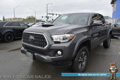 2018_Toyota_Tacoma_TRD Sport / 4X4 / Double Cab / Automatic / Navigation / Bluetooth / Back Up Camera / Lane Departure & Collision Alert / Tonneau Cover / Bed Liner / Alloy Wheels / Tow Pkg / 1-Owner_ Anchorage AK
