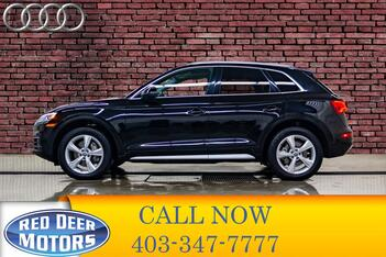 2019_Audi_Q5_Quattro Progressiv Leather Roof Nav_ Red Deer AB