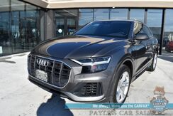 2019_Audi_Q8_Premium Plus / AWD / Heated & Cooled Leather Seats / Heated Steering Wheel / Blind Spot & Lane Departure / Adaptive Cruise / Bang & Olufsen Speakers / Panoramic Sunroof / Tow Pkg / 1-Owner_ Anchorage AK