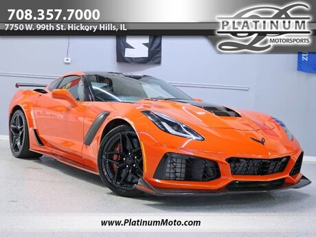 2019 Chevrolet Corvette ZR1 3ZR Rare 1 Owner 800 Miles Auto Sebring Orange Pkg Carbon Targa Loaded Hickory Hills IL