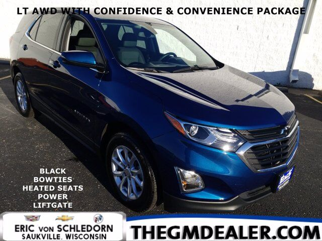 2019 Chevrolet Equinox LT AWD 1.5L Turbo Confidence&ConveniencePkg w/BlackBowties HtdCloth PowerLiftgate RearCamera Milwaukee WI
