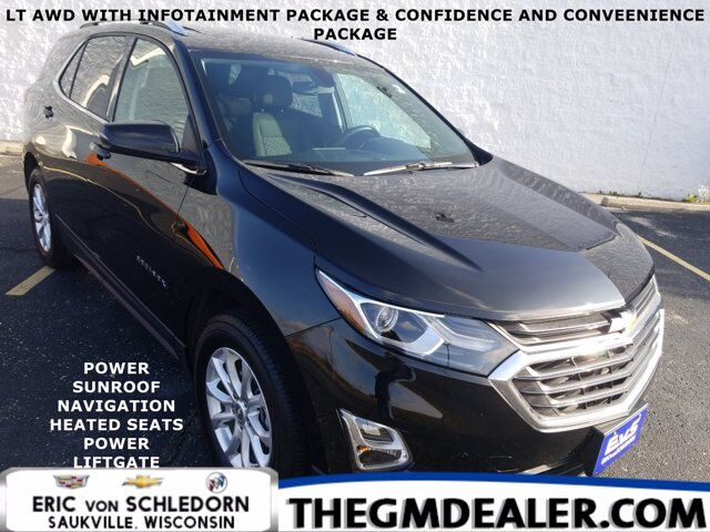 2019 Chevrolet Equinox LT AWD 1.5L Turbo Infotain Confidence&ConveniencePkgs w/Sunroof Nav HtdCloth PwrLftgt HD-RearCamera Milwaukee WI