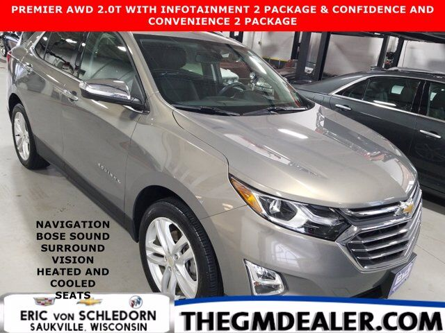 2019 Chevrolet Equinox Premier AWD 2.0T Info2 Conf&Conv2Pkgs w/AdaptiveCruise Nav Bose HtdCldMemLthr SurroundVision Milwaukee WI