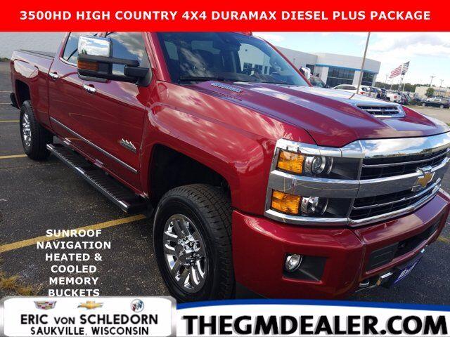 2019 Chevrolet Silverado 3500HD 3500HD High Country Crew Cab DuramaxDieselPlusPkg w/Sunroof Nav 18sChromes HtdCldMemLthr RearCamera Milwaukee WI