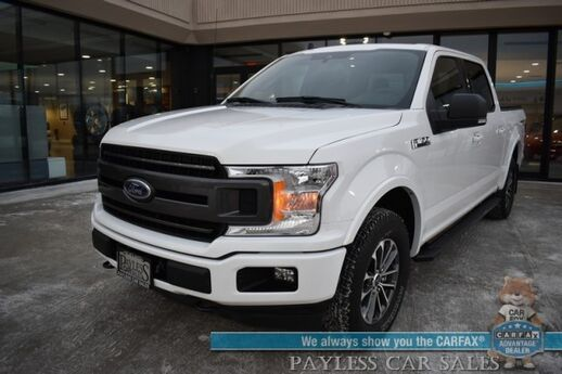 2019 Ford F-150 XLT / 4X4 / Ecoboost / Crew Cab / Auto Start / Heated Seats / Navigation / Panoramic Sunroof / Bluetooth / Back Up Camera / Tonneau Cover / Tow Pkg / 23 MPG / 1-Owner Anchorage AK