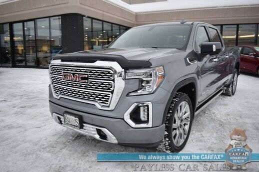 2019 GMC Sierra 1500 Denali / 4X4 / 6.2L V8 / Crew Cab / Long Bed / Heated Leather Seats & Steering Wheel / Navigation / Sunroof / Bose Speakers / Auto Start / Power Running Boards / Blind Spot Alert / Multipro Tailgate / Tow Pkg / 1-Owner Anchorage AK