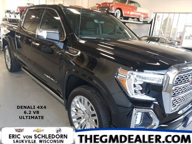 2019 GMC Sierra 1500 Denali Crew Cab 4WD 6.2L UltimatePkg w/Sunroof Nav 22s MultiProPowerSteps HD-SurroundVision Milwaukee WI