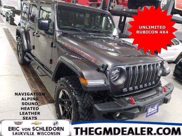 2019 Jeep Wrangler Unlimited Unlimited Rubicon 4WD ColdWx LED-Lighting SteelBumperGroups w/Nav AlpineSound HtdLthr 17sBlackWheels Milwaukee WI