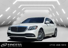 Mercedes-Benz S-Class S 560 4MATIC~DESIGNO DIAMOND WHITE/ PORCELAIN. 2019