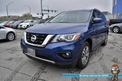 2019_Nissan_Pathfinder_SV / 4X4 / Auto Start / Power Driver's Seat / Adaptive Cruise Control / Blind Spot Alert / Bluetooth / Back Up Camera / 3rd Row / Seats 7 / Keyless Entry & Start / 26 MPG / 1-Owner_ Anchorage AK