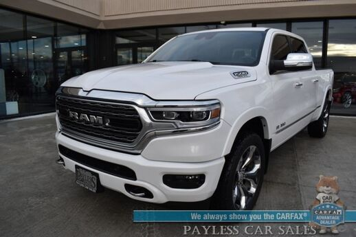 2019 Ram 1500 Limited / 4X4 / Air Suspension / Auto Start / Heated & Cooled Seats / Heated Steering Wheel / Harman Kardon / Navigation / Sunroof / Adaptive Cruise / Lane Departure & Blind Spot / 360 View Camera / Bed Liner / Tow Pkg / 1-Owner Anchorage AK