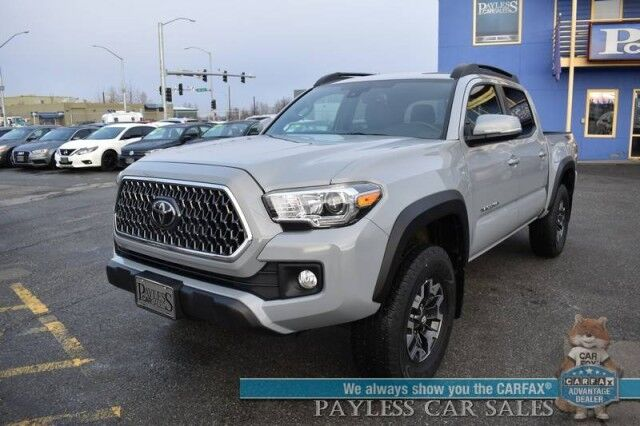 2019 Toyota Tacoma / 4X4 / TRD Off Road Pkg / Double Cab / Automatic / Navigation / Lane Departure & Blind Spot Alert / Bluetooth / Back Up Camera / Cruise Control / Bed Liner / Tow Pkg / 22 MPG / 1-Owner Anchorage AK