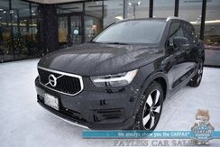 2019_Volvo_XC40_Momentum / AWD / Premium Pkg / Vision Pkg / Heated Leather Seats & Steering Wheel / Navigation / Panoramic Sunroof / Adaptive Cruise / Blind Spot & Cross Traffic Alert / Park Assist / 30 MPG / 1-Owner_ Anchorage AK