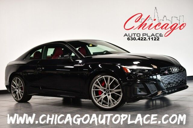 2020 Audi S5 Coupe Prestige - 3.0L TFSI 6-CYL ENGINE ALL WHEEL DRIVE NAVIGATION TOP VIEW CAMERAS RED LEATHER HEATED SEATS CARBON FIBER INTERIOR TRIM SUNROOF KEYLESS GO Bensenville IL
