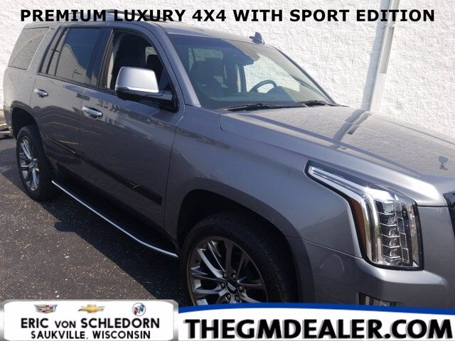 2020 Cadillac Escalade Premium Luxury 4WD SportEdition w/AdaptiveCruise Sunroof Nav DVD 22s HtdCldMemLthr SurroundVision Milwaukee WI