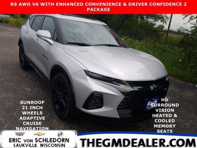 2020 Chevrolet Blazer RS AWD 3.6L EnhncdConv&DrvrConf2Pkg w/AdptvCruise Sunroof 21s Nav HtdCldMemLthr Bose HD-SrrndVsn Milwaukee WI