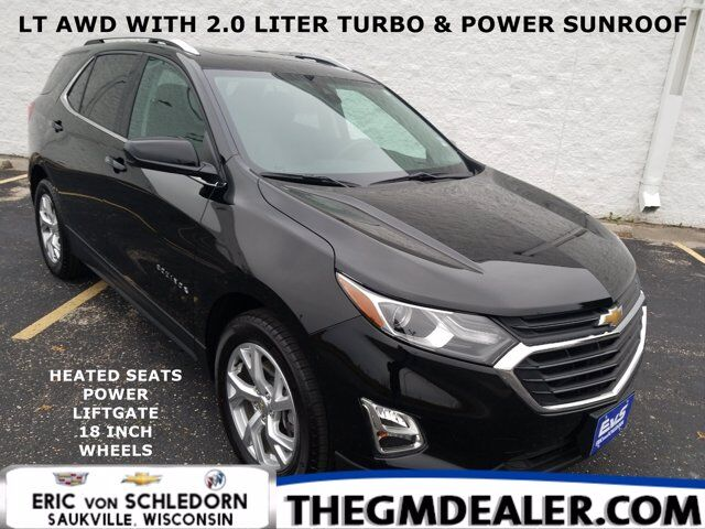 2020 Chevrolet Equinox LT AWD 2.0L Turbo Confidence&Convenience TraileringPkgs w/Sunroof HtdCloth PowerLiftgate RearCamera Milwaukee WI