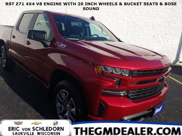 2020 Chevrolet Silverado 1500 RST Z71 Crew Cab 4WD All-Star Convenience2 BedProtectionPkgs w/20s HtdClothBuckets Bose RearCamera Milwaukee WI