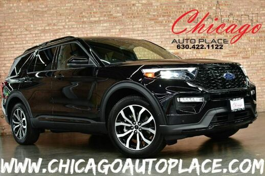 2020 Ford Explorer ST - 3.0L ECOBOOST V6 ENGINE 4 WHEEL DRIVE 1 OWNER NAVIGATION TOP VIEW CAMERAS BLACK LEATHER HEATED/COOLED SEATS KEYLESS GO 3RD ROW SEATING Bensenville IL