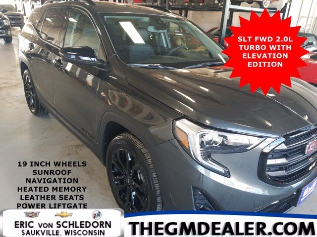 2020 GMC Terrain SLT FWD 2.0T ElevationEdition Info2 PreferredPkgs w/Sunroof Nav 19sBlackWheels PwrLftgte HtdMemLthr Milwaukee WI