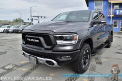 2020_Ram_1500_Rebel / 4X4 / Crew Cab / Auto Start / Heated Leather Seats & Steering Wheel / Panoramic Sunroof / Keyless Entry & Start / Bluetooth / Back Up Camera / Aluminum Wheels / Tow Pkg / Only 2k Miles / 1-Owner_ Anchorage AK