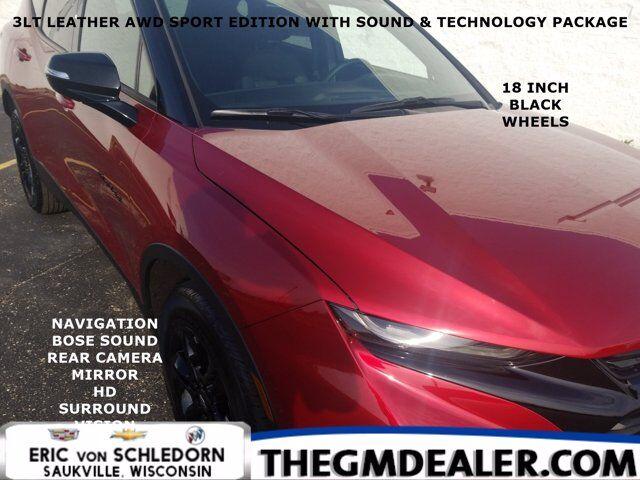 2021 Chevrolet Blazer 3LT AWD 3.6L SportEd Sound&Tech TrlrngPkgs w/18sBlackWheels Nav Bose HtdLthr RrCamMirror HD-SrrndVsn Milwaukee WI