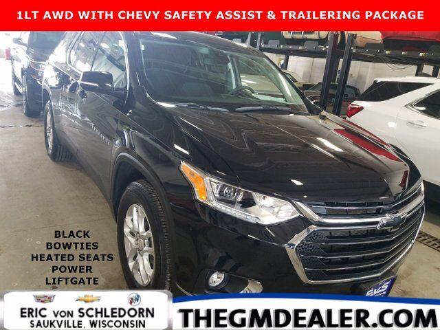 2021 Chevrolet Traverse 1LT AWD ChevySafetyAssist Trailering FloorLinerPkgs w/BlackBowties HtdCloth PowerLiftgate RearCamera Milwaukee WI