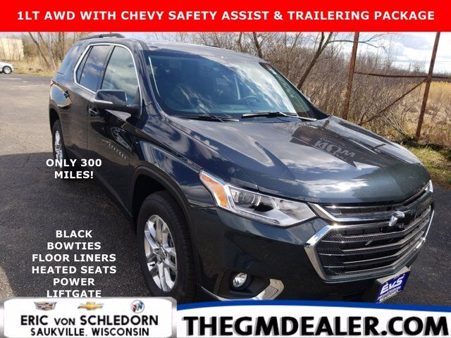 2021 Chevrolet Traverse 1LT AWD ChevySafetyAssist Trailering FloorLinerPkgs w/BlackBowties HtdCloth PwrLiftgte HD-RearCamera Milwaukee WI