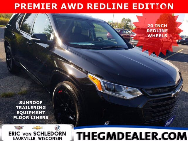 2021 Chevrolet Traverse Premier AWD RedlineEdition FloorLinerPkg w/DualRoof Nav TraileringPkg 20sRedlines RearCameraMirror Milwaukee WI