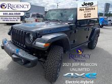 2021_Jeep_Wrangler_Unlimited Rubicon 4xe  - Navigation - $539 B/W_ 100 Mile House BC