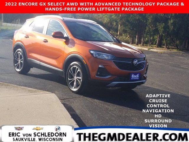2022 Buick Encore GX Select AWD AdvancedTechnology Hands-FreePwrLiftgatePkgs w/AdptvCruise Nav HtdCloth HD-SrrndVsn Milwaukee WI