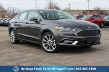 2017 Ford Fusion Platinum South Burlington VT