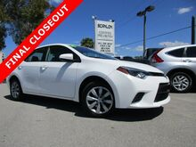 2016 Toyota Corolla 4dr Sdn LE Fort Myers FL