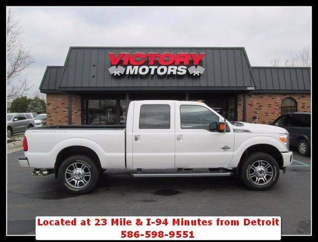 2016 ford f 250 super duty platinum 4x4 4dr crew cab 6 8 ft sb pickup chesterfield mi 16204183. Black Bedroom Furniture Sets. Home Design Ideas