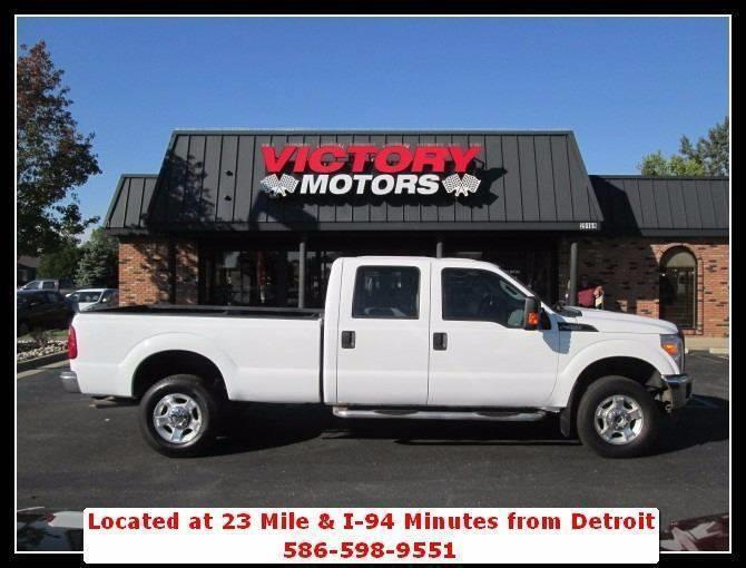 2013 ford f 350 super duty xlt 4x4 4dr crew cab 8 ft lb for Victory motors chesterfield mi