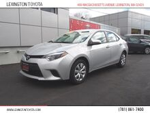 2014 Toyota Corolla LE Lexington MA