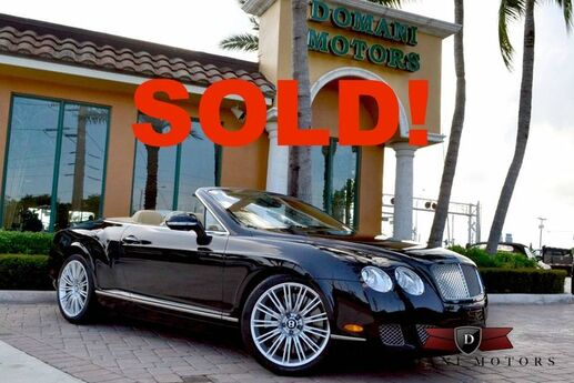 2010 Bentley Continental GTC Speed Deerfield Beach FL
