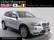2013 BMW X3 xDrive28i/AWD/Nav/Rear Cam/Pano/Heated Seats/Bluetooth Audio Nashville TN