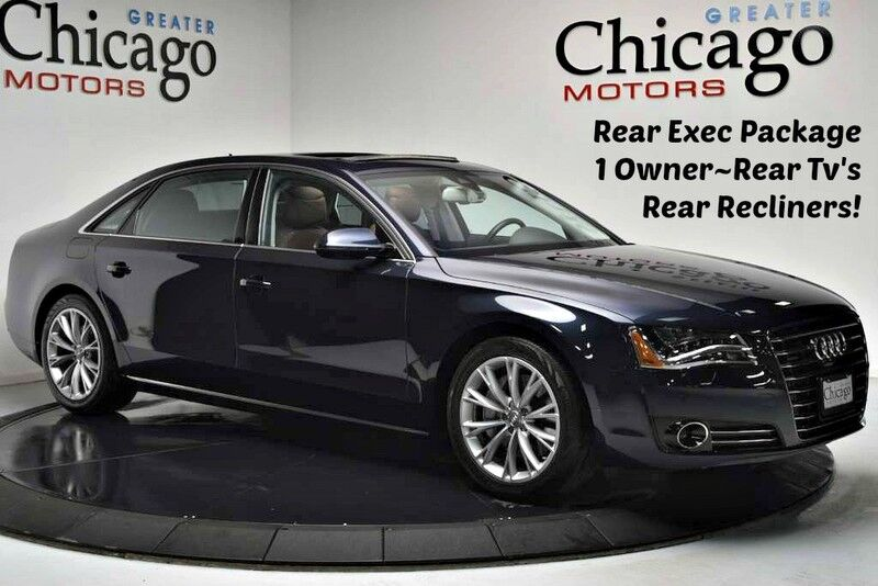 2014 Audi A8 L 1 Owner Carfax Certified Rear Tv's~Rear Recliners! Chicago IL